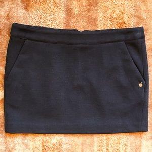Women's Maison Scotch Wool Black Mini Skirt NWOT